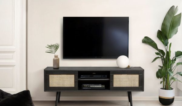 Deluxe black TV Unit Roomset small